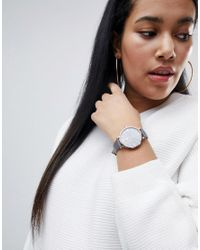 ASOS - Multicolor Charcoal And Rose Gold Watch - Lyst
