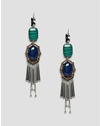 ASOS DESIGN - Multicolor Asos Statement Acrylic And Jewel Stick Earrings - Lyst
