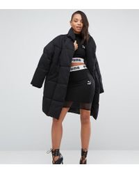 PUMA - Black Exclusive To Asos Cropped Mesh Skirt Co Ord - Lyst