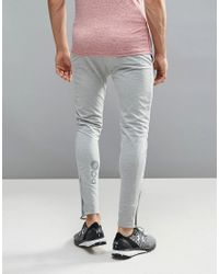 11 Degrees - Gray Super Skinny Joggers for Men - Lyst