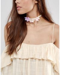 ASOS - Pink Spring Flower Choker Necklace - Lyst