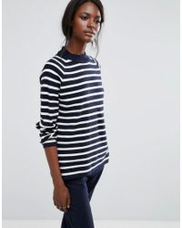 SELECTED - Blue Long Sleeve High Neck Knit - Lyst