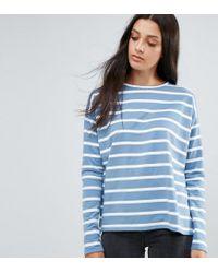 ASOS - Blue Stripe T-shirt In Baby Loop Back - Lyst