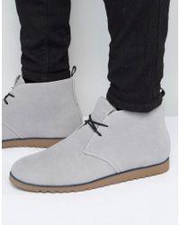 D-Struct   Gray Chukka Boots for Men   Lyst
