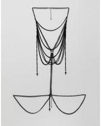 ASOS - Design Body Harness In Black With Crosses for Men - Lyst