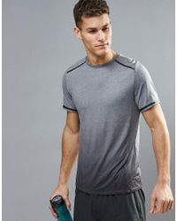 New Look - Gray Sport T-shirt With Ombre Space Print In Grey for Men - Lyst