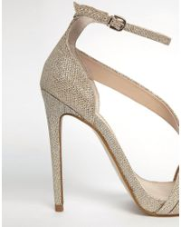 Carvela Kurt Geiger | Metallic Gosh Gold Heeled Strap Sandals | Lyst