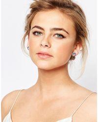 Ted Baker - Blue Sully Crystal Daisy Stud Earrings - Lyst