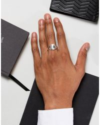 Seven London - Metallic Sterling Silver Signet Ring for Men - Lyst