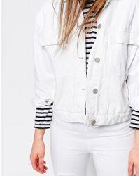 WÅVEN - White Denim Jacket - Lyst