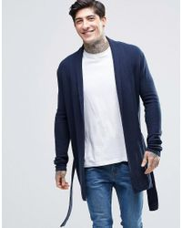 Minimum Kimono Cardigan in Blue for Men | Lyst