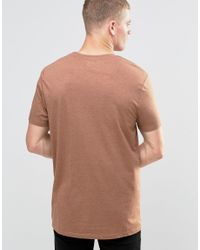 ASOS - Longline T-shirt With Crew Neck In Brown for Men - Lyst