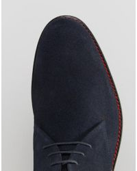 Lambretta - Blue Desert Boot Navy Suede - Navy for Men - Lyst