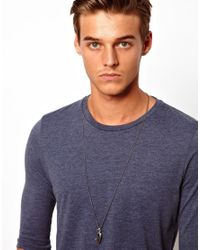 Simon Carter - Metallic Key And Feather Necklace Exclusive To Asos for Men - Lyst