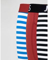 Jack & Jones - Blue 3 Pack Trunks In Stripe for Men - Lyst