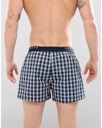 BOSS - Blue By Hugo Woven Boxers 2 Pack for Men - Lyst