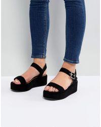 ASOS - Black Asos Toucan Wedge Sandals - Lyst
