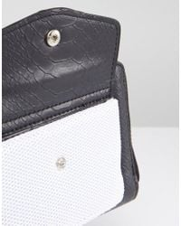 French Connection - White Purse With Mesh Pocket - Lyst