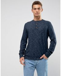 51b8617a Abercrombie & Fitch. Men's Blue Long Sleeve Top Slim Fit Henley In Navy
