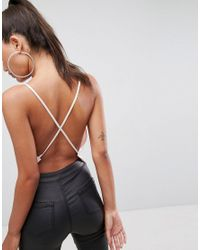 ASOS | Pink Backless Cowl Neck Top | Lyst