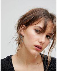 Orelia | Metallic Moon & Star Charm Hoop Earrings | Lyst