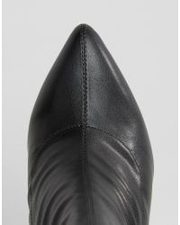 Truffle Collection | Black Contrast Heel Boot | Lyst