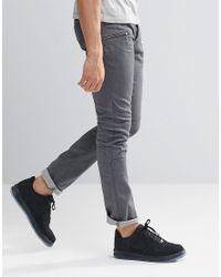 Loyalty & Faith - Zip Pocket Skinny Jean Gray Wash for Men - Lyst