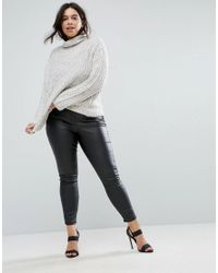 Elvi - Multicolor Funnel Neck Sweater - Lyst