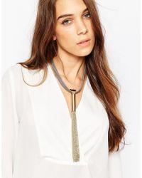Ashiana | Metallic Shiana Necklace With Tassel | Lyst