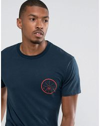 Poler - Blue T-shirt With Golden Circle Back Print for Men - Lyst