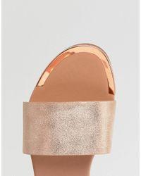 New Look - Metallic Slider - Lyst