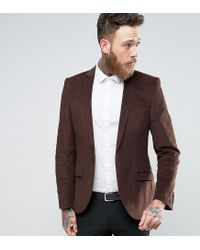 Heart & Dagger - Brown Skinny Blazer In Cord for Men - Lyst