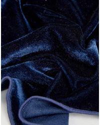 ASOS - Blue Velour Pocket Square In Navy for Men - Lyst