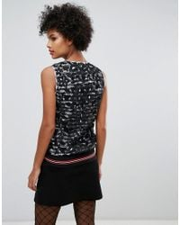 Sonia by Sonia Rykiel - Black Lace With Stripe Lining Stop - Lyst