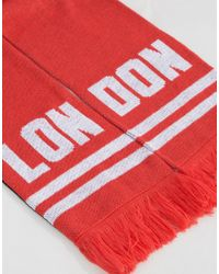 Abuze London - Black Lon Don Knitted Scarf for Men - Lyst