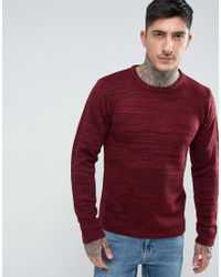 Another Influence - Red Melange Slouchy Knit Jumper for Men - Lyst
