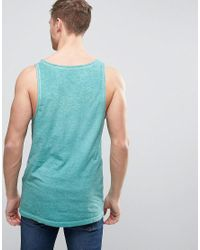 Esprit - Green Oil Wash Tank With Chest Pocket for Men - Lyst