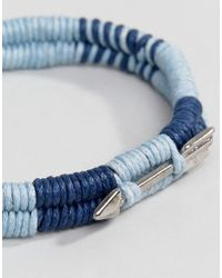 Icon Brand - Blue Wrapped Cord Bracelet In Navy for Men - Lyst