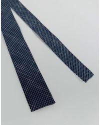 Noak - Blue Square Tie In Grid Print for Men - Lyst
