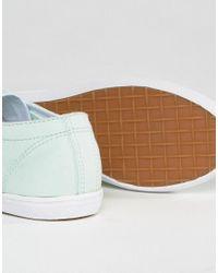Fred Perry - Green Kingston Twill Dusty Mint Sneakers - Lyst