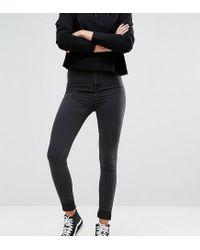 Noisy May Tall - Mid Rise Skinny Jean In Black - Lyst
