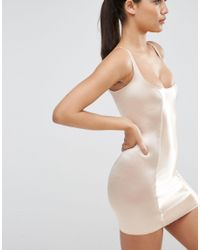 ASOS | Natural Shapewear High Shine Control Dress - Wear Your Own Bra | Lyst