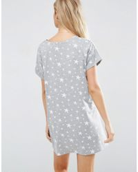 ASOS - Gray Let's Stay In Bed Nightie - Grey - Lyst