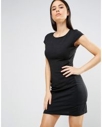 AX Paris - Black Cap Sleeve Shift Dress With Pockets - Lyst