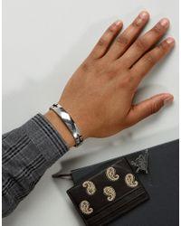 Icon Brand - Metallic Cross Cuff Bangle Bracelet In Silver - Lyst