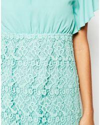 Traffic People - Blue Carry On Crochet Backless Dress - Lyst