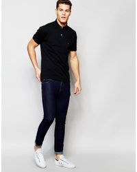 Tommy Hilfiger - Polo In Slim Fit Black for Men - Lyst