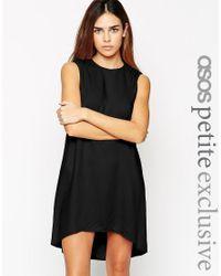 ASOS | Black Petite Exclusive Tunic Swing Dress | Lyst