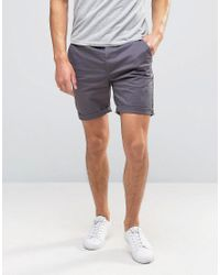 ASOS | Gray Slim Chino Shorts In Soft Purple for Men | Lyst