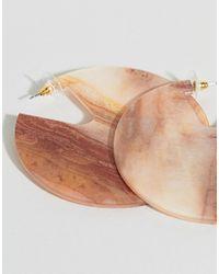 ASOS - Multicolor Design Earrings In Solid Resin Hoop Design - Lyst